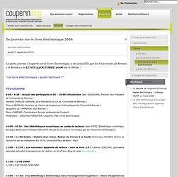 3e journée sur le livre électronique 2006