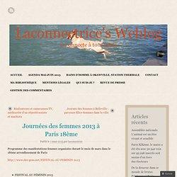Journées des femmes 2013 à Paris 18ème