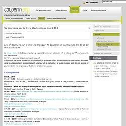 5es journées sur le livre électronique mai 2010