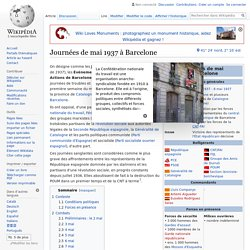 Journées de mai 1937 à Barcelone