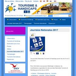 Journées Nationales 2017 Tourisme et Handicaps