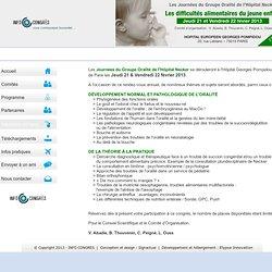 Journées du Groupe Oralité de l'Hôpital Necker - Paris, 21 et 22 février 2013