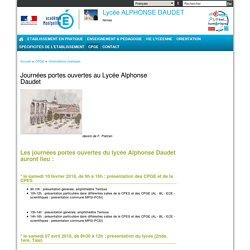 Journées portes ouvertes au Lycée Alphonse Daudet
