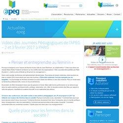 Vidéos des Journées Pédagogiques de l'APEG - 2 et 3 février 2017 à PARIS - Apeg