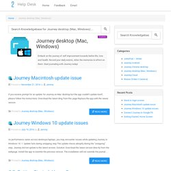 Journey desktop (Mac, Windows)
