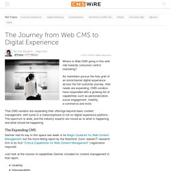 The Journey from Web CMS to Digital Experience