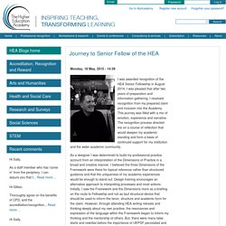 Journey to Senior Fellow of the HEA