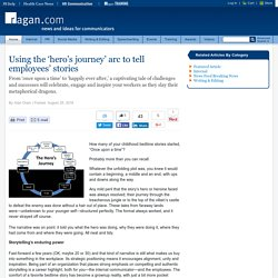 Using the 'hero's journey' arc to tell employees' stories