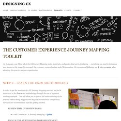 CX Journey Mapping Toolkit — Designing CX