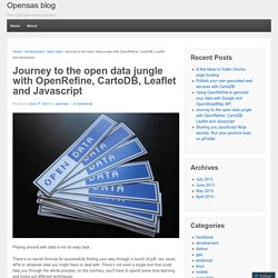 Journey to the open data jungle with OpenRefine, CartoDB, Leaflet and Javascript