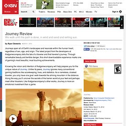 Journey Review - PlayStation 3 Review at IGN