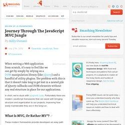 Journey Through The JavaScript MVC Jungle