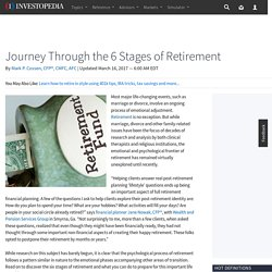 Journey Through the 6 Stages of Retirement