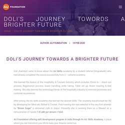 Doli's journey towords a brighter future