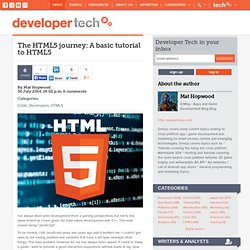 The HTML5 journey: A basic tutorial to HTML5