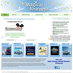 Disney Vacation Specialist - Plan a perfect trip to Disney with Specials & Discount Resort Pricing