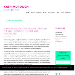 Mapping journeys of inquiry through the year: emergent, flexible and connected. — Kath Murdoch