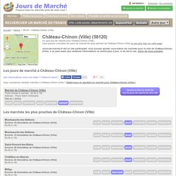 Jours de marché à Château-Chinon (Ville)