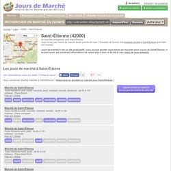 Jours de marché à Saint-Étienne