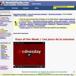 Jours de la semaine-anglais