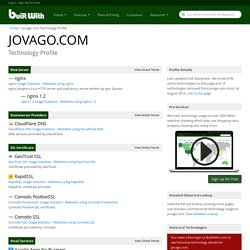 jovago.com Technology Profile