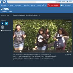Jóvenes hispanos son nueva mayoría en EE.UU. 1'35