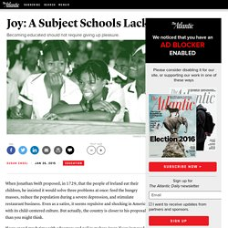 Joy: A Subject Schools Lack