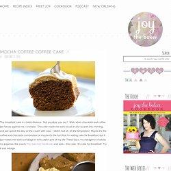 Mocha Coffee Coffee Cake