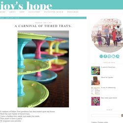 Joy's Hope: A carnival of tiered trays.