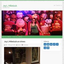 Joy L Miketzuk on vimeo