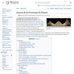 Joyaux de la Couronne de France