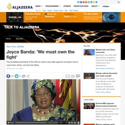 Joyce Banda: 'We must own the fight'