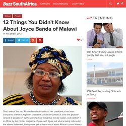 Joyce Banda of Malawi: 12 Things You Didn't Know About Her