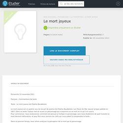 Le mort joyeux - Comptes Rendus - Lilgw3N