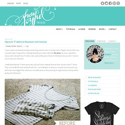 Upcycle: T-shirts to Summer vest tutorial