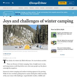 Joys and challenges of winter camping