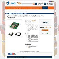 Encodeur Joystick-boutons arcade USB 2 joueurs (cosses 4.8mm) - SmallCab