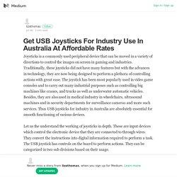 USB Joysticks for Industry Use
