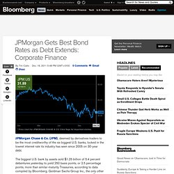 JPMorgan Gets Best Bond Rates as Dimon Extends Maturity: Corporate Finance