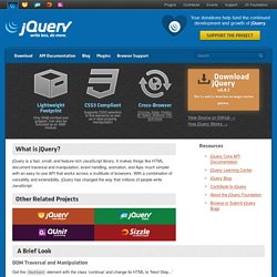 jQuery: The Write Less, Do More, JavaScript Library