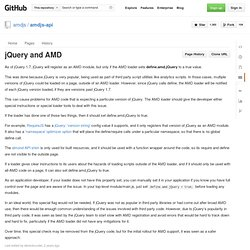 jQuery and AMD · amdjs/amdjs-api Wiki