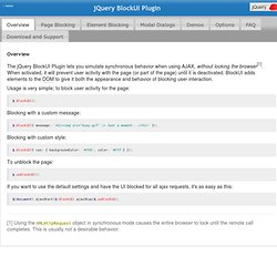 Jquery Blockui Plugin