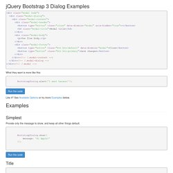 jQuery Bootstrap 3 Dialog Examples