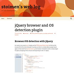 jQuery browser and OS detection plugin