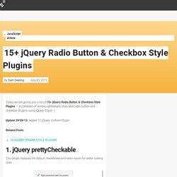 15+ jQuery Radio Button & Checkbox Style Plugins