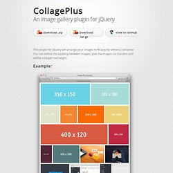 jQuery CollagePlus - an image gallery plugin by Ed Lea