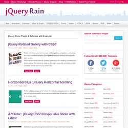 350+ Best jQuery Image & Content Slider Gallery With Example