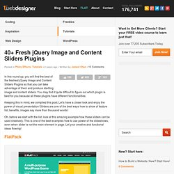 40+ Fresh jQuery Image And Content Sliders Plugins