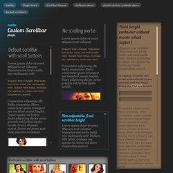 jQuery custom scrollbar demo