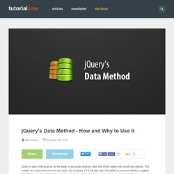 jQuery's Data Method – How and Why to Use It